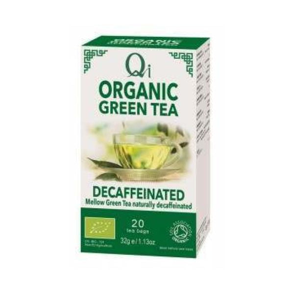 Qi Herbal Health Organic Decaffeinatedd Green Tea 20bags