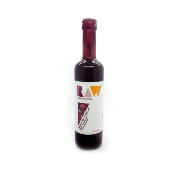 Raw Vibrant Living Raw Red Wine Vinegar With The Mother Organic 500ml