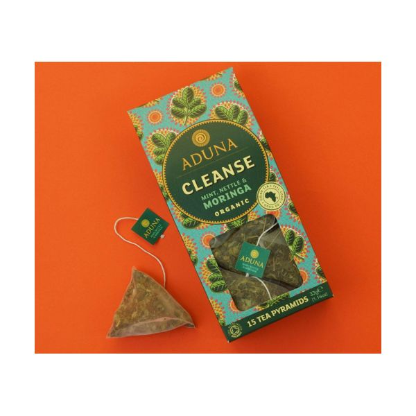 Aduna Organic Cleanse Tea With Moringa, Mint & Nettle 15bags