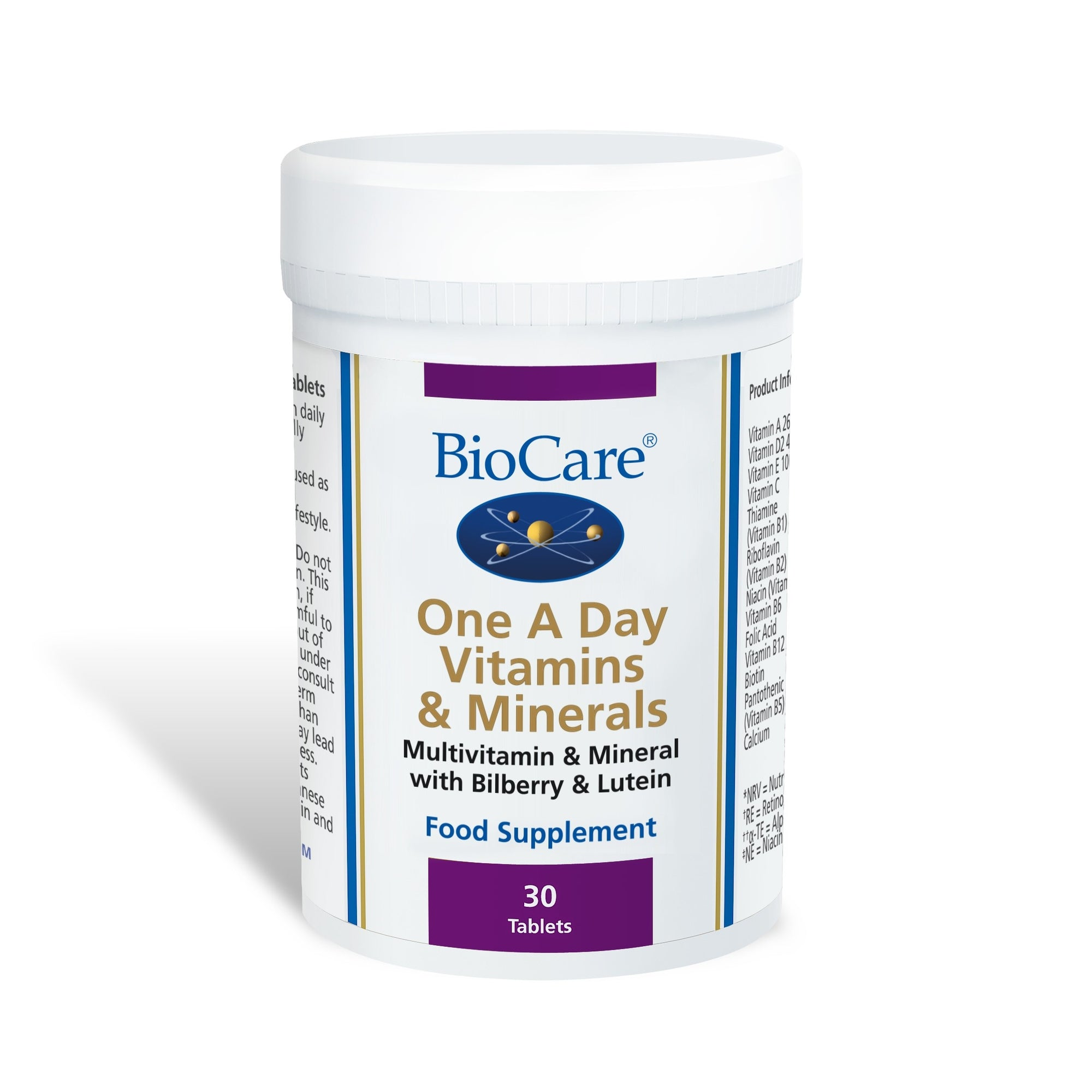 BioCare One A Day Vitamins & Minerals 30 Tablets