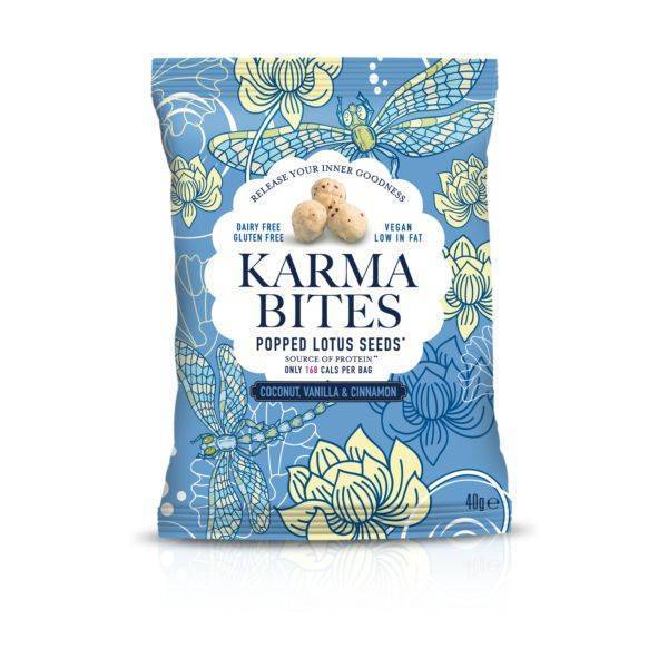 Karma Bites - Coconut & Vanilla Popped Lotus Seeds 25g (x 12pack)