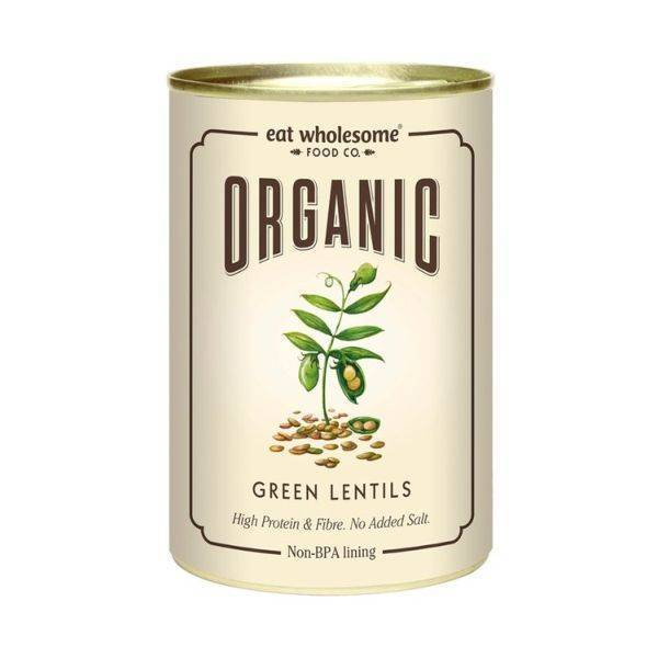 Eat Wholesome - Organic Green Lentils 400g