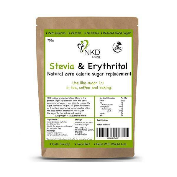 Nkd Living - Stevia & Erythritol 1:1 Granulated 750g