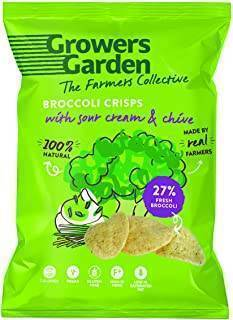 Growers Garden - Broccoli Crisps Sour Cream & Chive 22g (x 24pack)