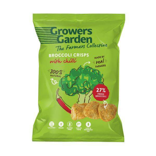 Growers Garden - Broccoli Crisps With Chilli 22g (x 24pack)
