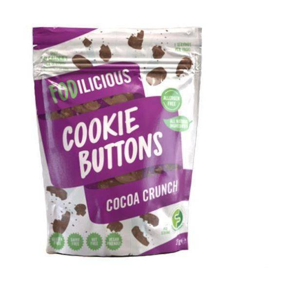 Fodilicious - Cookie Buttons Cocoa Crunch 27g (x 12pack)