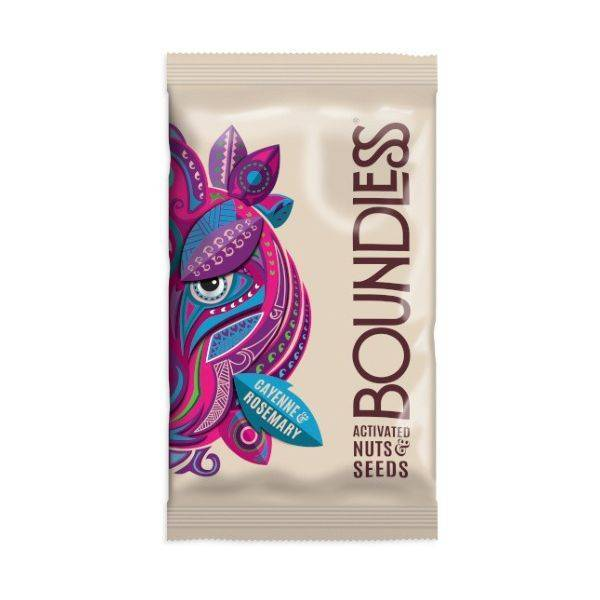 Boundless - Cayenne & Rosemary Activated Nuts & Seeds 30g (x 12pack)