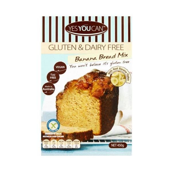 Yes You Can - Yes You Can Gluten & Dairy Free Banana Bread Mix (450g)