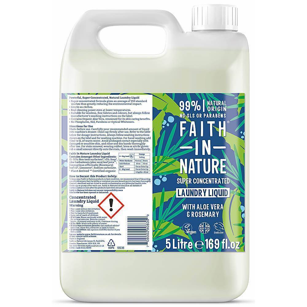 Faith In Nature - Superconcentrated Laundry Liquid 5 Litres
