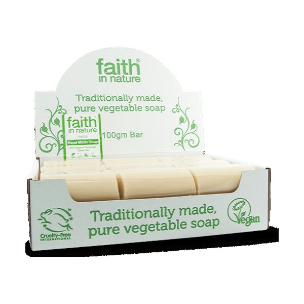 Faith In Nature Hemp With Lemongrass & Green Tea Soap Bulk 100g x 18