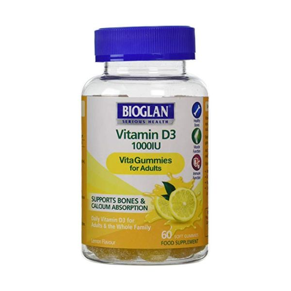 Bioglan Adult Vitagummies Vitamin D3 1000Iu 60 Gummies