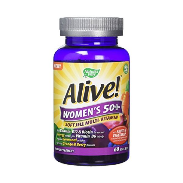 Alive Alive! Women'S 50+ Multi-Vitamin Soft Jell 60