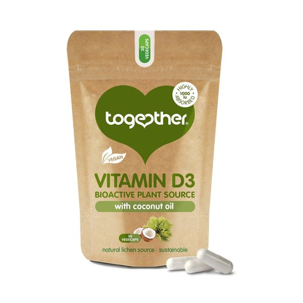 Together Vegan Vitamin D3 Food Supplement 30 Capsules