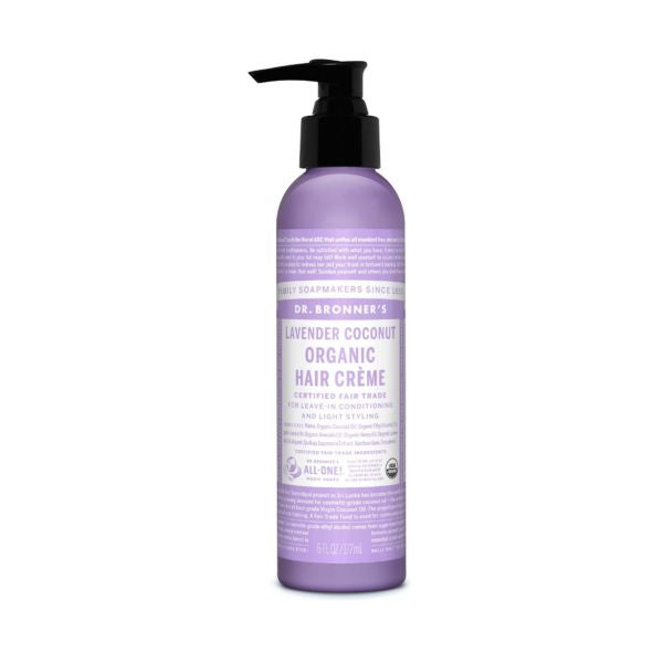 Dr Bronners Organic Lavender Coconut Hair Creme 177ml