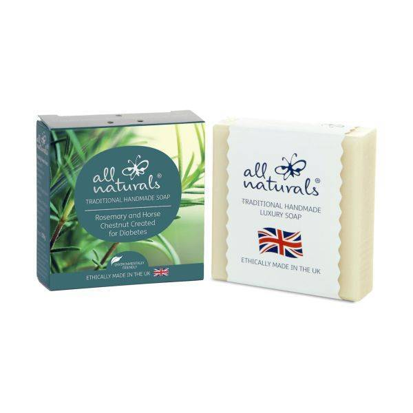 All Natural - Rosemary Horse Chestnut Diabetes Organic Soap Bars 100g