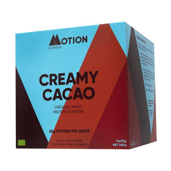 Motion Nutrition - Creamy Cacao Protein Shake 30G 12sach