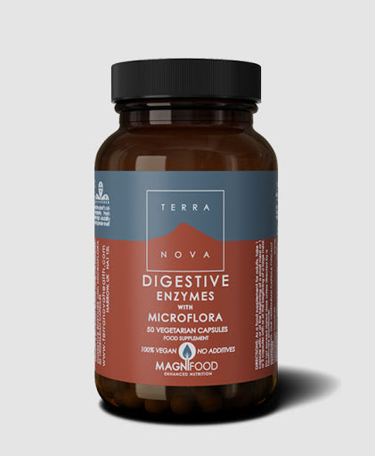 Terranova Digestive Enzyme with Microflora 50 Capsules
