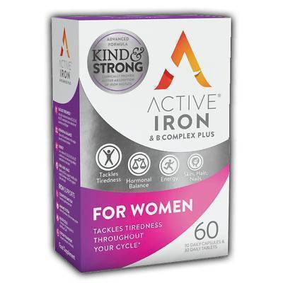 Active Iron - Active Iron & B Complex Plus For Women 30Caps+30Tabs 60