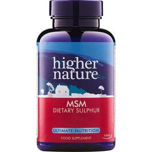 Higher Nature MSM - Dietary sulphur 180 Tablets