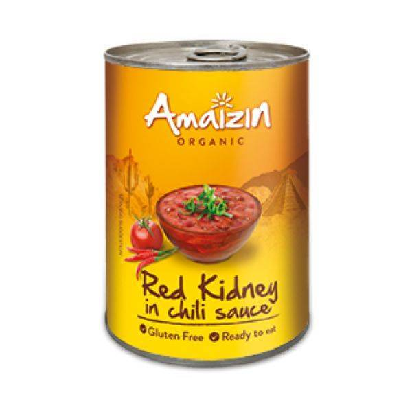 Amaizin - Organic Red Kidney Beans In Chilli Sauce 400g