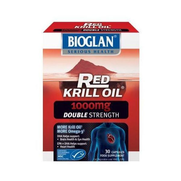 Bioglan - Red Krill Oil 1000Mg Double Strength 30caps