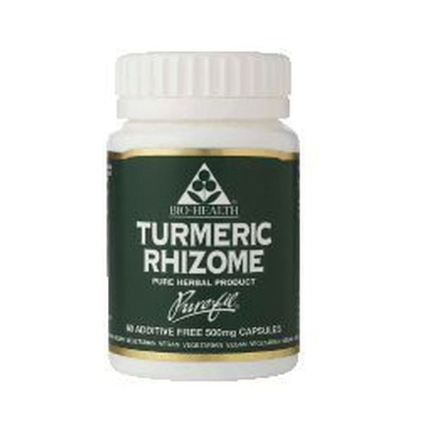 Bio Health Bio-Health Turmeric Rhizome 500Mg Powdered Rhizome 60 Capsules
