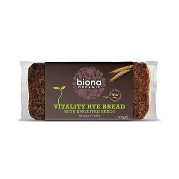 Biona Organic Vitality Rye Bread With Sprouted Seeds 500g