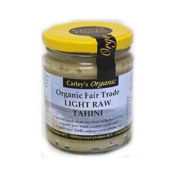 Carley'S Organic Raw Fair Trade Light Tahini - Vegan 250g