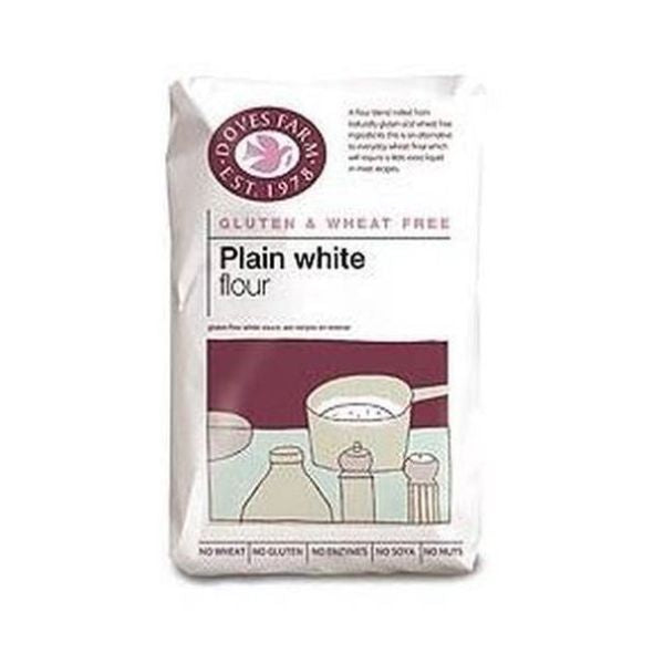 Doves Farm Gluten Free Plain White Flour Blend 1kg x 5