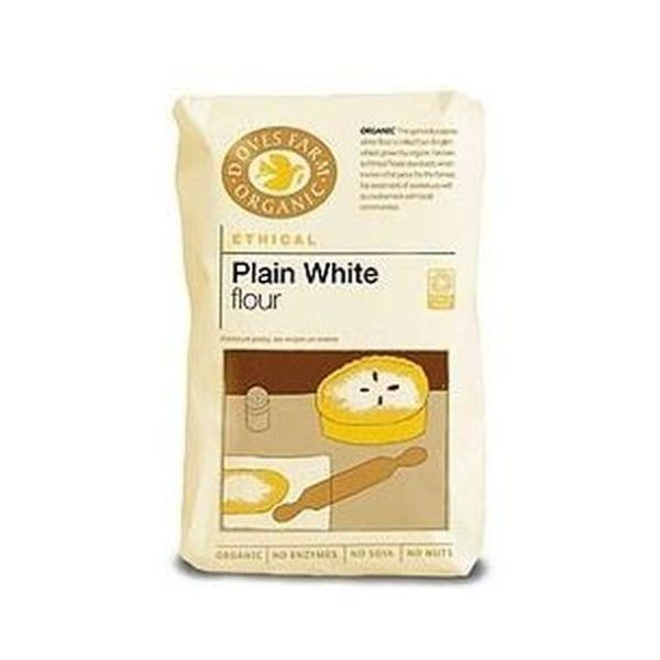 Doves Farm Organic Plain White Flour 1kg x 5