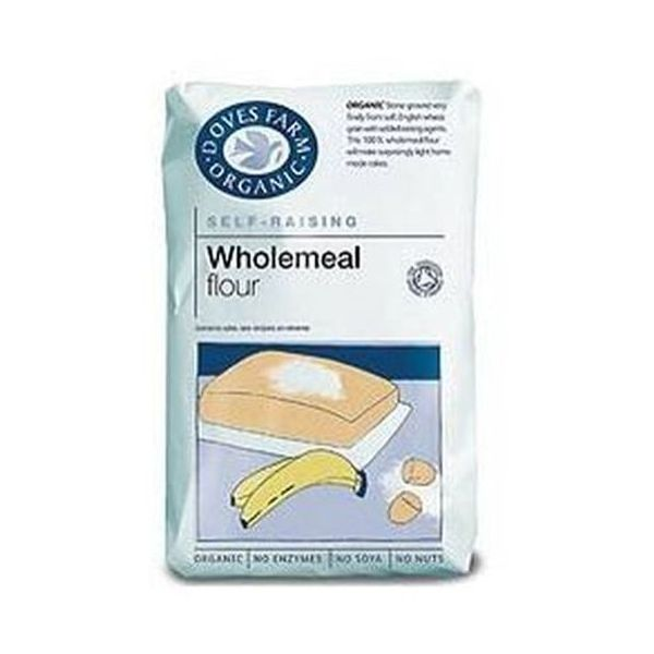 Doves Farm Organic 100% Wholemeal Self Raising Flour Stoneground 1kg x 5