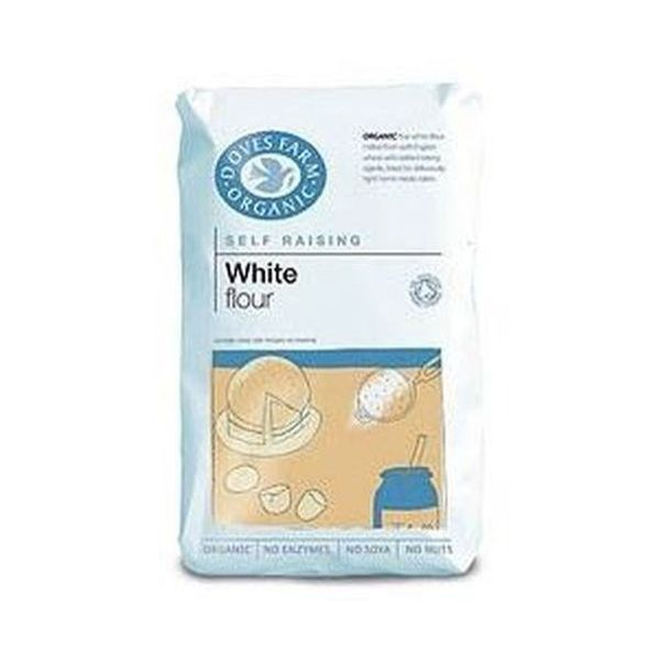 Doves Farm Organic White Self Raising Flour Unbleached 1kg x 5