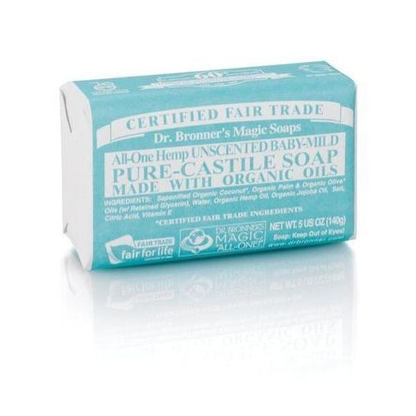 Dr Bronners Organic Baby Mild Soap Bar 140g