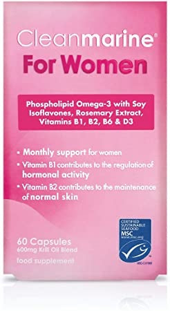 Cleanmarine Women Monthly Support 600mg (60 Capsules)
