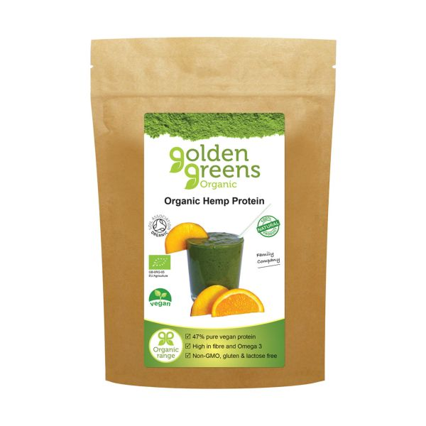 Golden Greens Organic Organic Hemp Protein Powder 250g