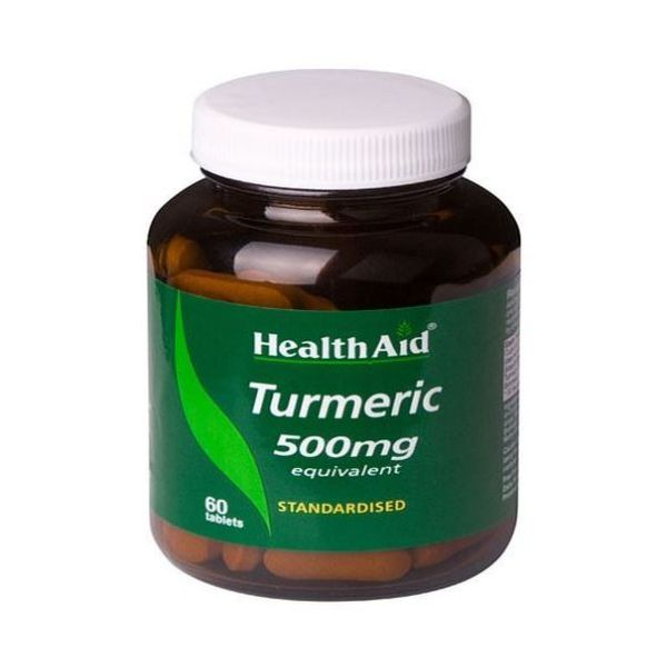 Health Aid Turmeric (Curcumin) 350mg Standardised 60 Tablets