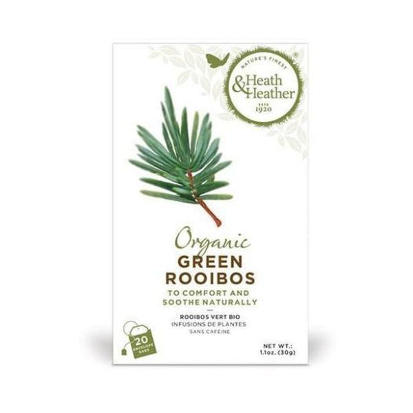 Heath & Heather Organic Green Rooibos Tea 20bags