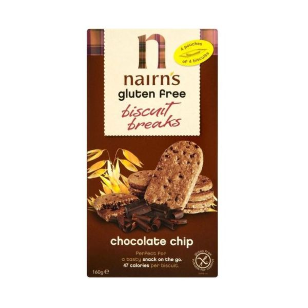 Nairn S Oatcakes Nairn'S Oatcakes Gluten Free Biscuits Breaks Choc Chip 160g