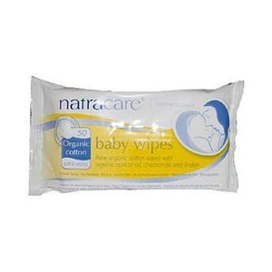 Natracare Organic Cotton Baby Wipes 50wipes