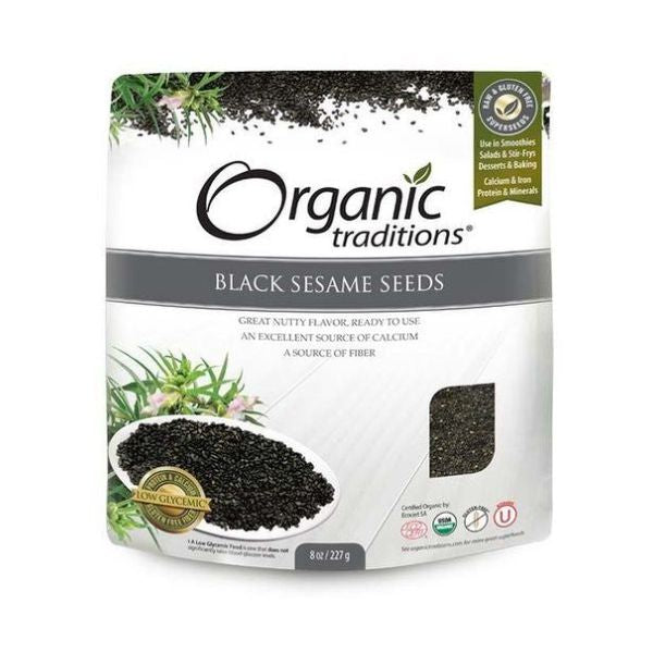Organic Natural Traditions Black Sesame Seeds 227g