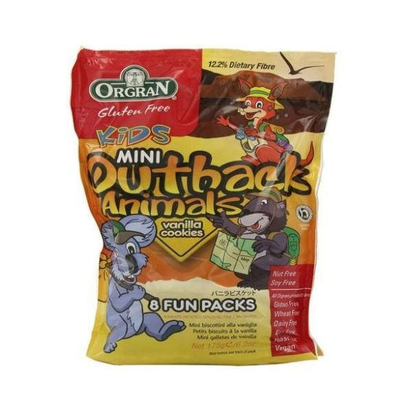 Orgran Mini Outback Animals Multi Pack - Vanilla Gluten Free 175g
