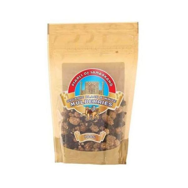 Pearls Of Samarkand Organic Black And White Mulberries 100g