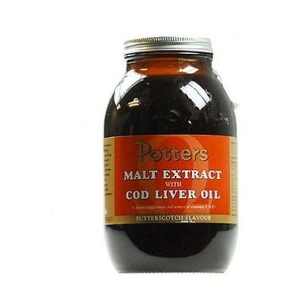Potters Malt Extract & Cod Liver Oil Butterscotch 650g