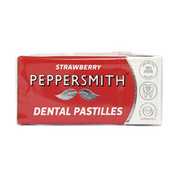 Peppersmith Strawberry Dental Care Pastilles 15g x 12