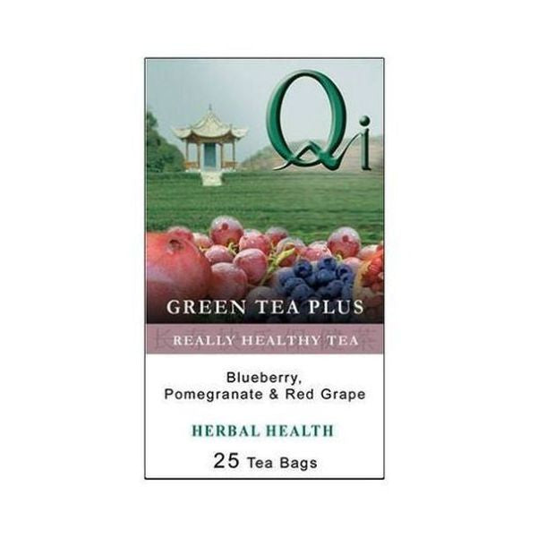 Qi Green Tea Plus Blueberry Pomegranate And Red Grape 25 Teabags