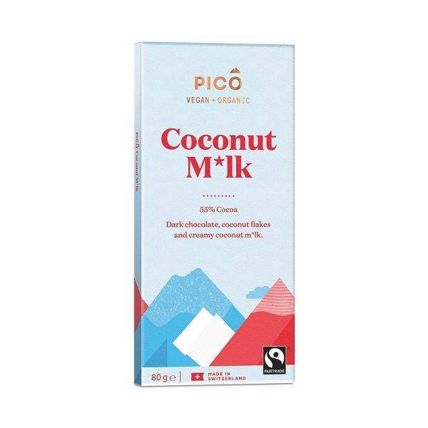 Pico - Organic Coconut M*Lk Chocolate 80g (x 10pack)
