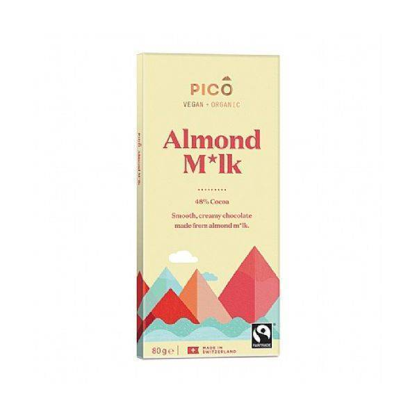Pico - Organic Almond M*Lk Chocolate 80g (x 10pack)