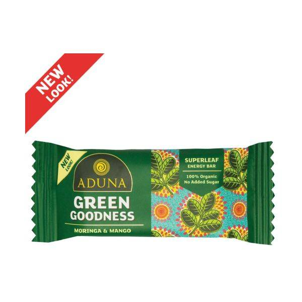 Aduna - Green Goodness With Moringa Superfood Energy Bar 40g (x 16pack)