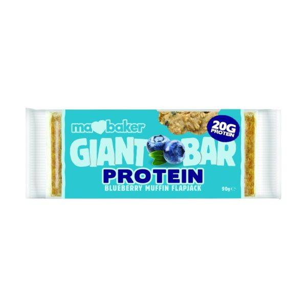 Ma Baker - Giant Protein Flapjack - Blueberry Muffin 90g (x 20pack)