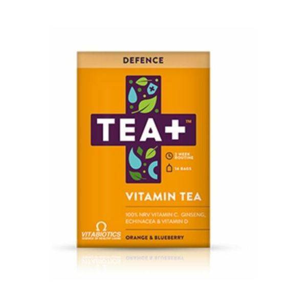 Vitabiotics TEA+ Vitamin C Orange & Blueberry 14 Teabags